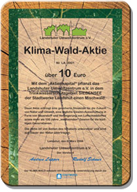Klima-Wald-Aktie ordern